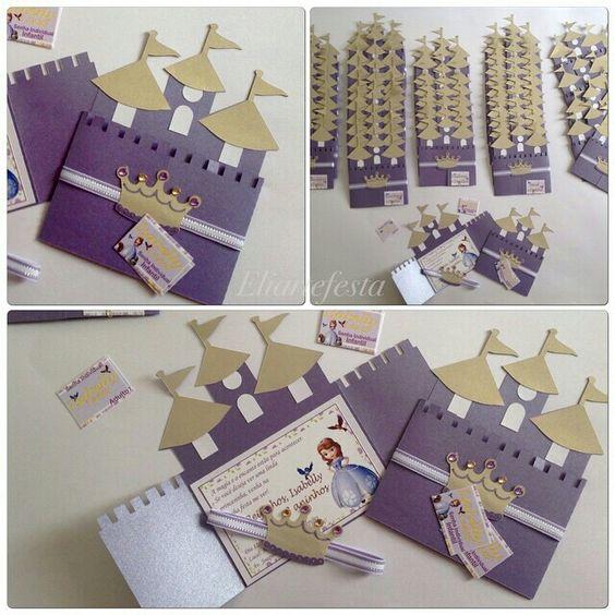 Diseños de invitaciones de princesita sofia