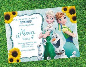 Invitaciones de frozen fever