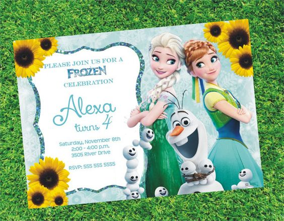 Invitaciones de frozen fever