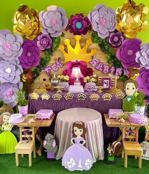 Mesas de postres de princesita sofia