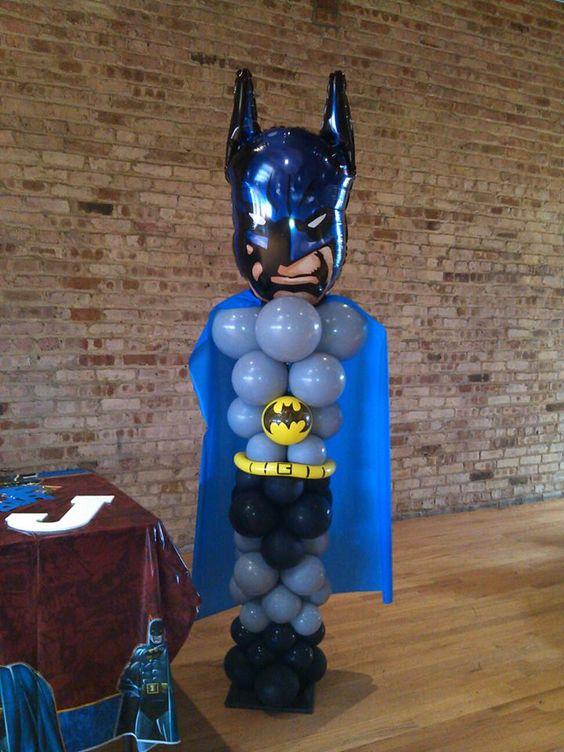 Ideas Para Decorar Con Globo Fiesta De Batman 10