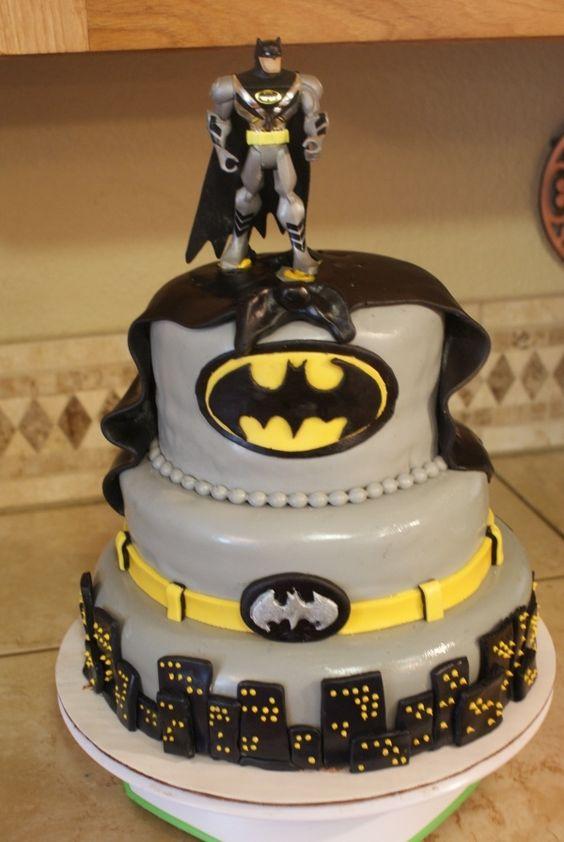 Pasteles Para Fiesta De Batman 12 Decoracion De