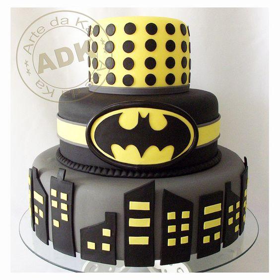 Pasteles para fiesta de batman (2)
