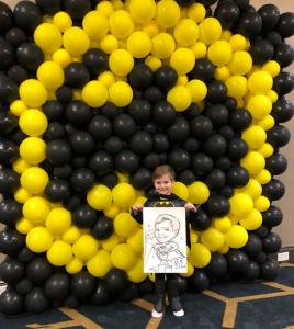 Set para fotos de batman con globos
