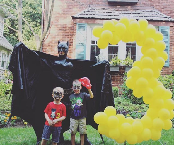 Set para fotos de batman con globos