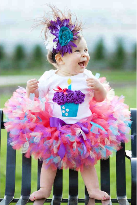 Tutus para fiestas del tema de cupcakes de colores