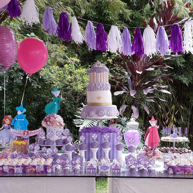 Sofia the decoraciones para fiestas muyameno com fiestas for Decoracion de princesas