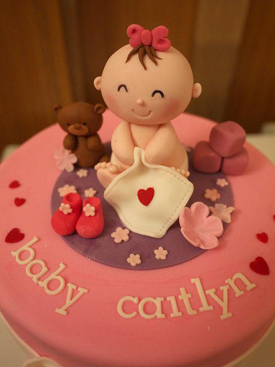 Pasteles para baby shower de niña