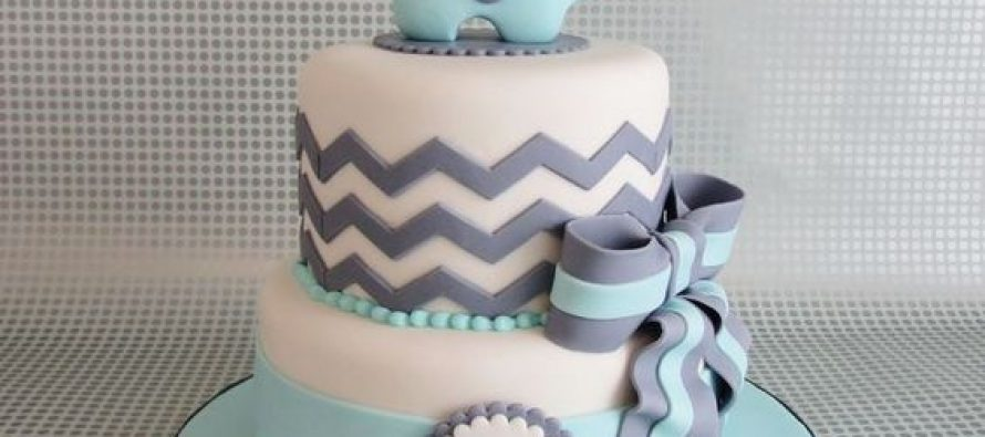Pasteles para baby shower de niño