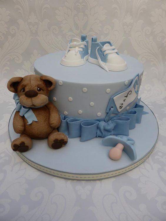 Pasteles para baby shower de niño (5) - Decoracion de ...