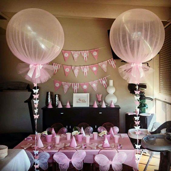 Decoración de fiestas con globos y tutus