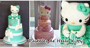 Ideas de pasteles para fiestas de cumpleaños de hello kitty