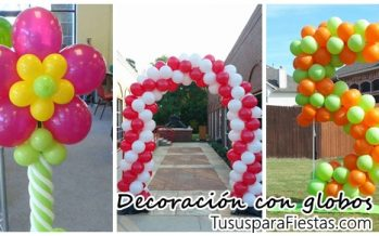 Decoraciones tipicas con globos