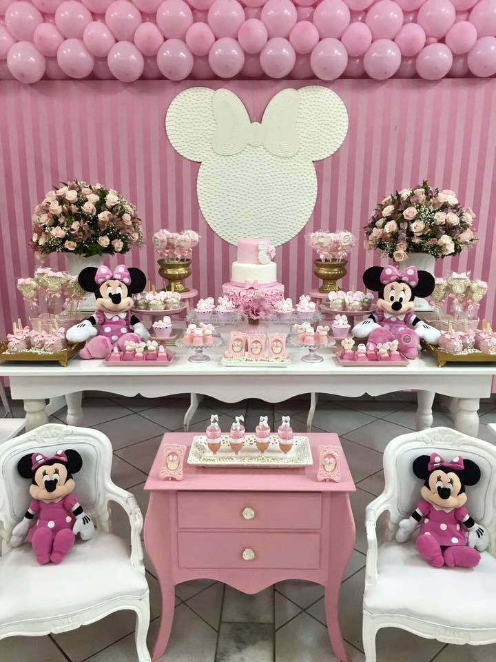 Fiesta de minnie mouse rosa 16 decoracion de fiestas for Decoracion para fiesta de cumpleanos de nina