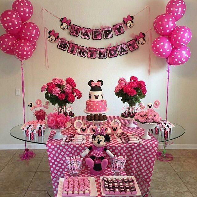 Fiesta De Minnie Mouse Rosa 7 Decoracion De Fiestas Cumpleaños Bodas Baby Shower Bautizo Despedidas