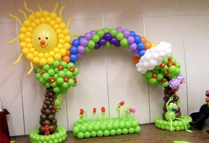 Lindas y creativas decoraciones para fiestas infantiles 18 for Decoracion pared infantil