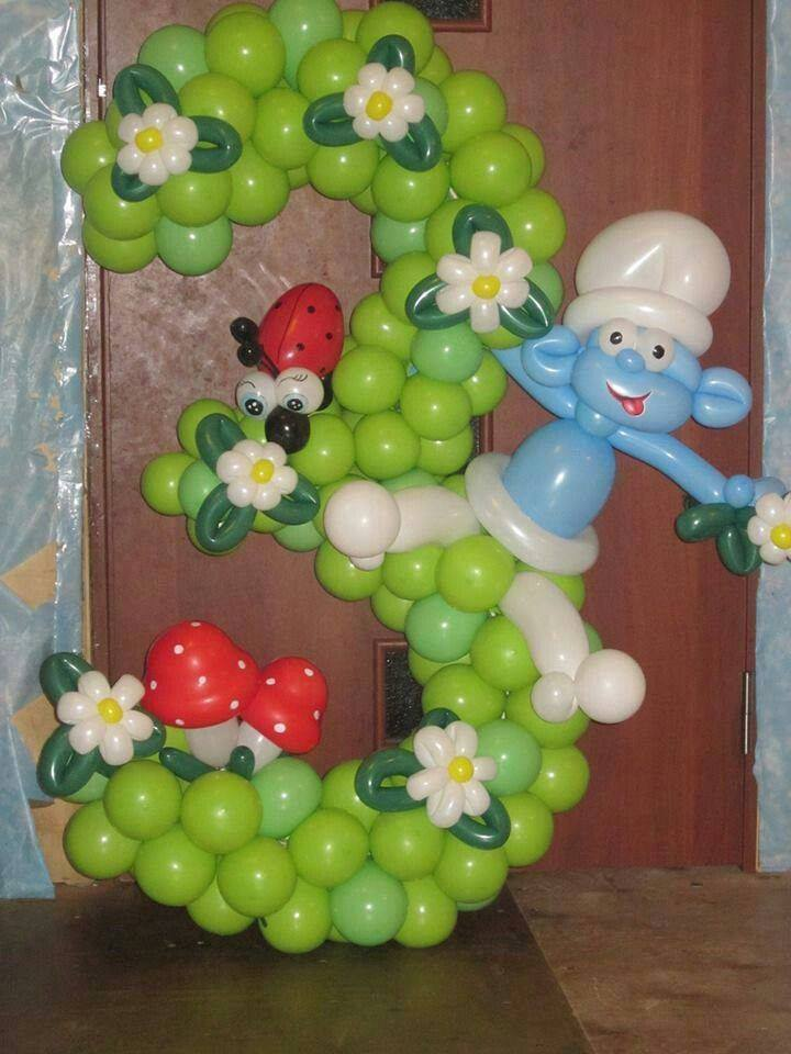 Lindas y creativas decoraciones para fiestas infantiles 21 for Decoracion pared infantil