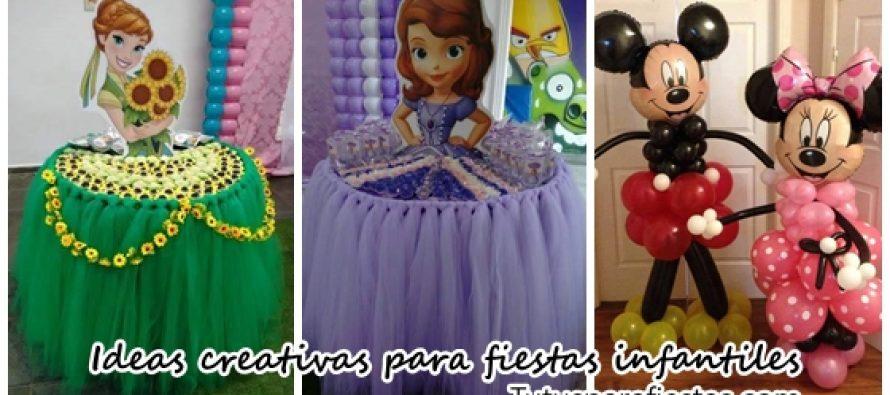 Lindas y creativas decoraciones para fiestas infantiles
