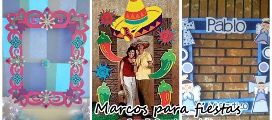 Marcos personalizados para fiestas