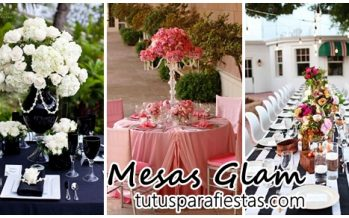 Decoración de mesas Glam