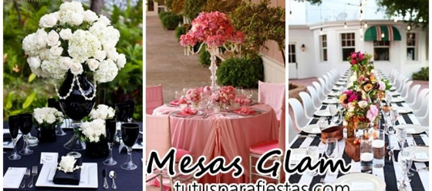 Decoración de mesas Glam