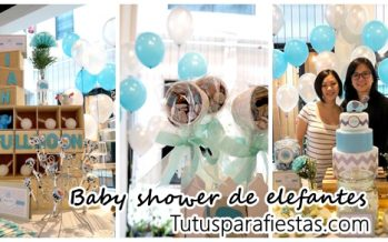 Decoracion baby shower de elefantes