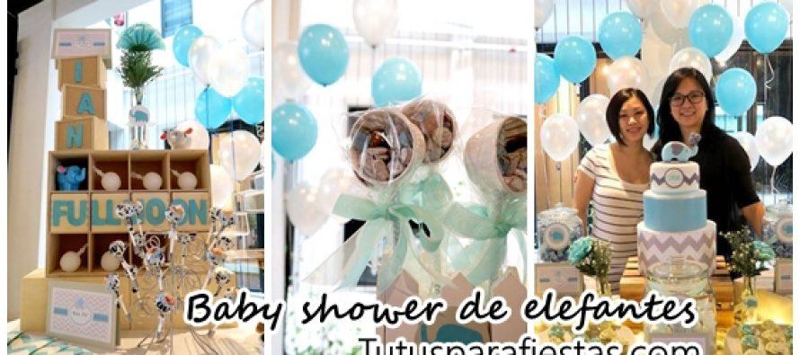 Decoracion baby shower de elefantes