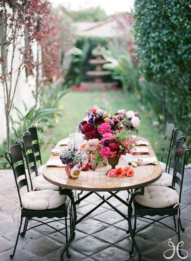 decoracin de mesas para fiestas de jardn