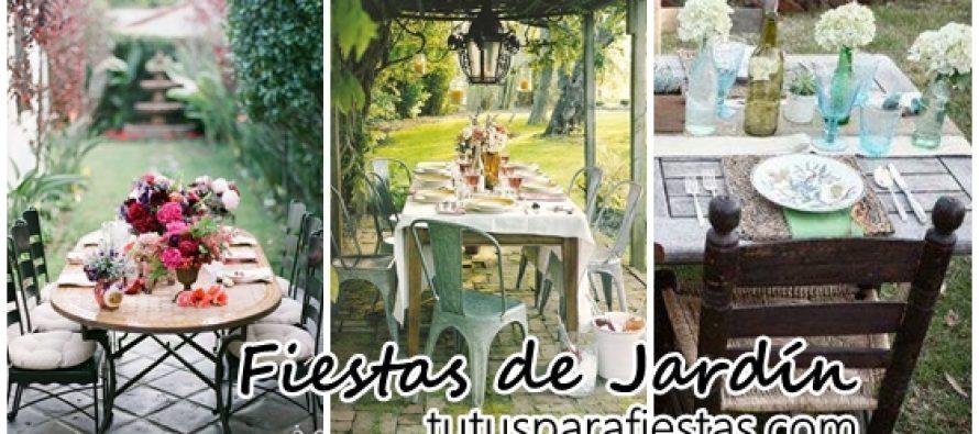 Decoración de mesas para fiestas de jardín