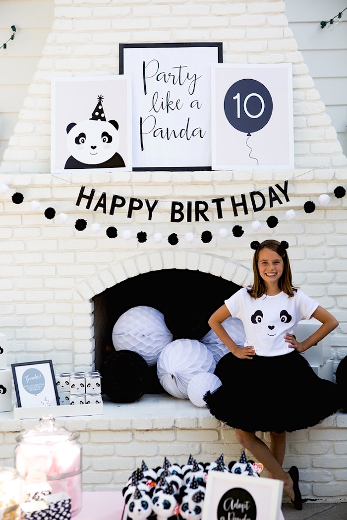 Happy Birthday Banner Printable Black And White
