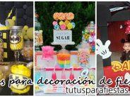 Ideas para complementar la decoración de fiestas