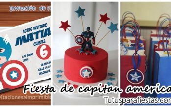 Fiesta de niño con tema de capitan america