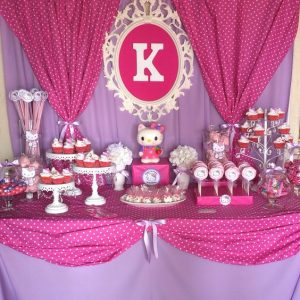 Fiesta infantil con tema de Hello Kitty (16)