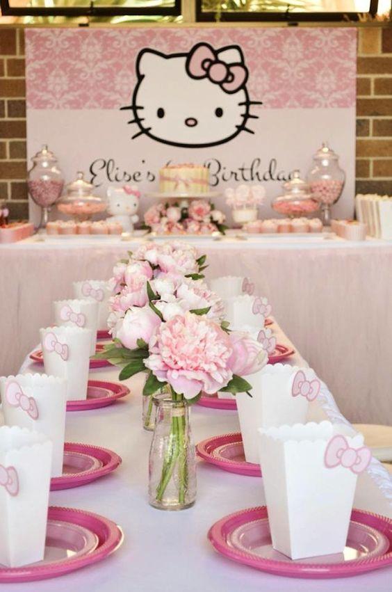 Fiesta infantil con tema de Hello Kitty (17)