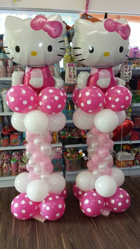 Fiesta infantil con tema de hello kitty - Decoration hello kitty chambre bebe ...