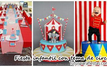Fiesta infantil con tema de circo