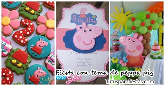 Con De Peppa Infantil Tema Fiesta Pig xeWCBoQrd