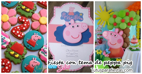 Peppa Pig Tema Infantil De Con Fiesta OXNwPkn80