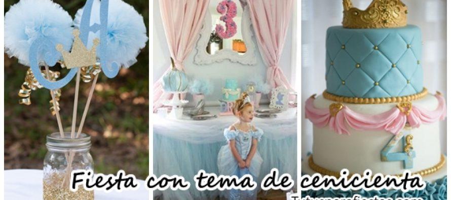 Fiesta infantil para niña con tema de cenicienta