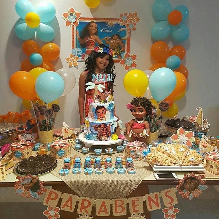 Fiesta infantil tematica de moana hawaiana (11 ...