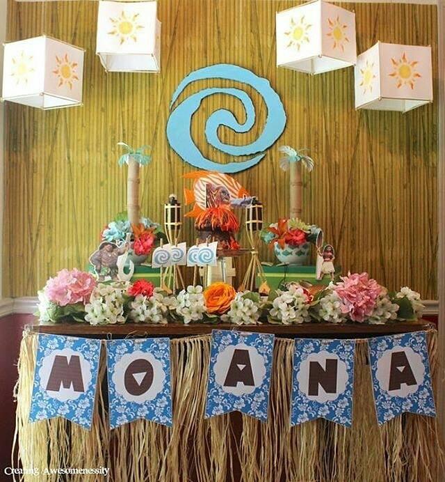 Fiesta infantil tematica de moana hawaiana 12 - Manteles de cumpleanos infantiles ...