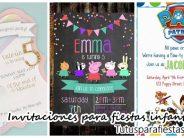 Los mejores diseños de invitaciones para fiestas infantiles