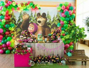masha y el oso fiestas ninas