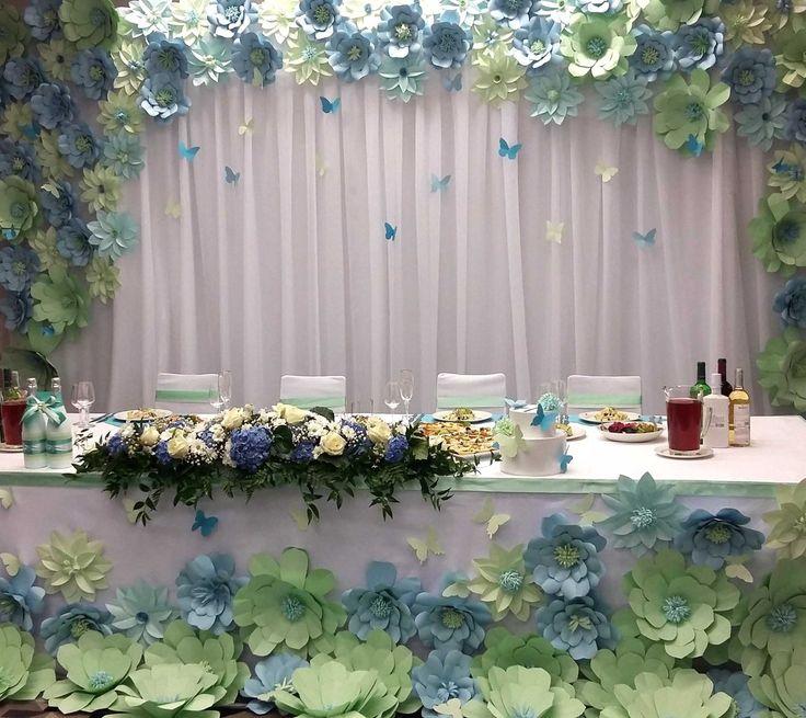Decoracion Para Eventos Con Flores De Papel 33 Decoracion De
