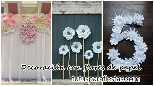 Decoracion Para Eventos Con Flores De Papel