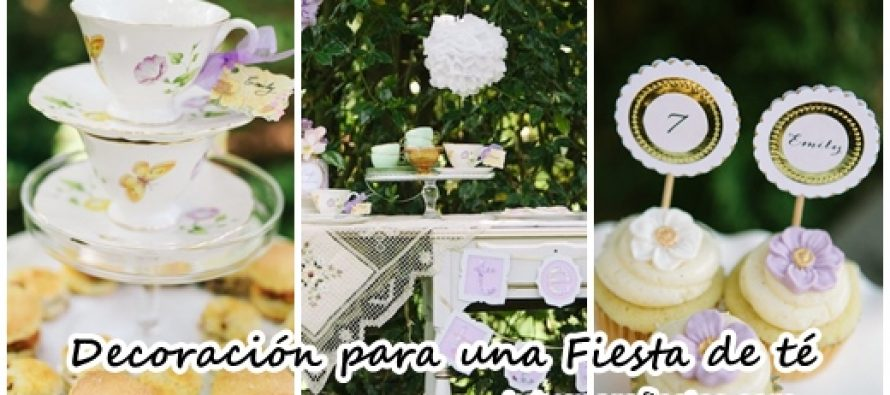 Decoración para una Fiesta de té