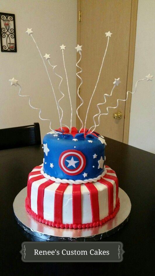 Dise 241 Os De Pasteles Para Fiesta De Capitan America 1
