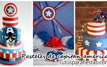 Diseños de pasteles para fiesta de capitan america