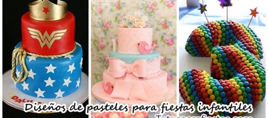 Diseños de pasteles para fiestas infantiles 2018