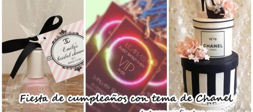 Fiesta de cumpleaños con tema de Chanel